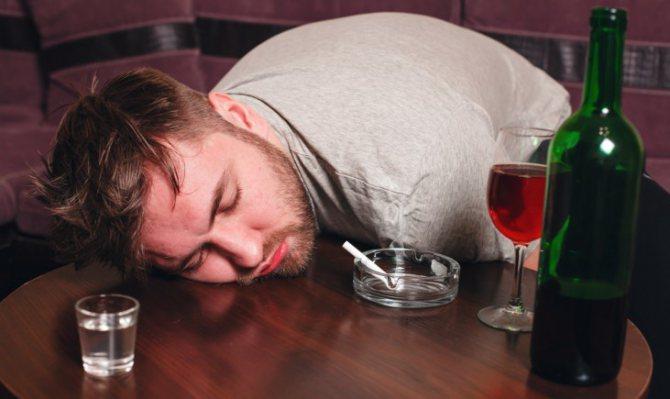 Покраснение лица после алкоголя